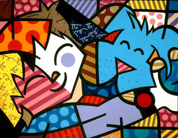 Romero Britto's Art for the 21st Century | L'amore e forte come la ...