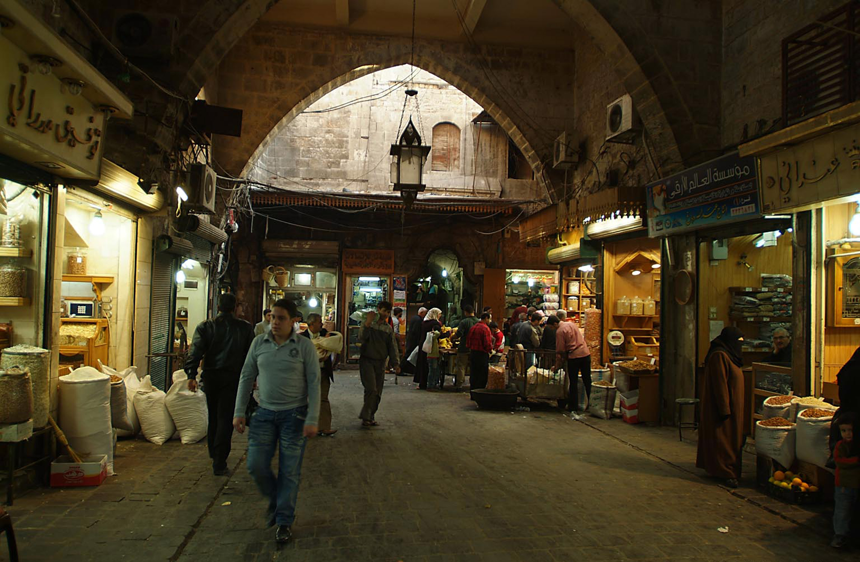 Ancient City Of Aleppo Historical Souk Syria L Amore